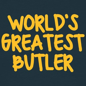 worlds greatest butler - Men's T-Shirt