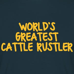 worlds greatest cattle rustler - Men's T-Shirt