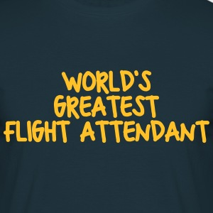 worlds greatest flight attendant - Men's T-Shirt