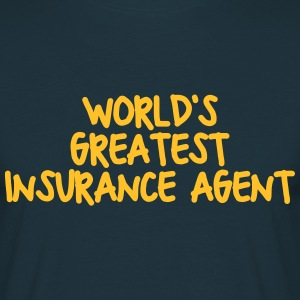 worlds greatest insurance agent - Men's T-Shirt