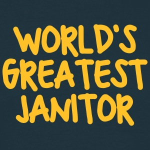 worlds greatest janitor - Men's T-Shirt