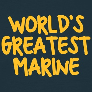 worlds greatest marine - Men's T-Shirt