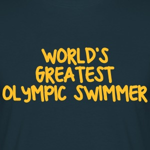 worlds greatest  swimmer - Men's T-Shirt