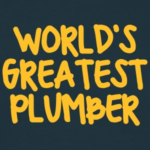 worlds greatest plumber - Men's T-Shirt