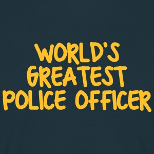 worlds greatest police officer - Men's T-Shirt