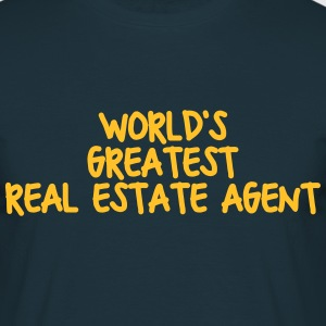 worlds greatest real estate agent - Men's T-Shirt
