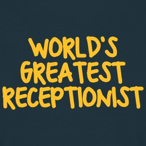 worlds greatest receptionist - Men's T-Shirt
