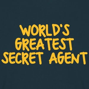 worlds greatest secret agent - Men's T-Shirt