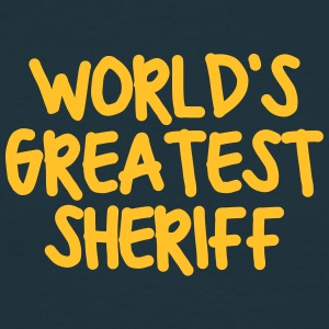 worlds greatest sheriff - Men's T-Shirt