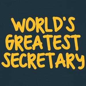 worlds greatest secretary - Men's T-Shirt