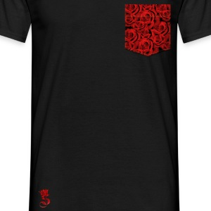 Poche Roses full Rouge  Tee shirts - T-shirt Homme