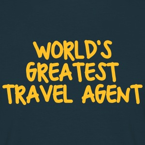 worlds greatest travel agent - Men's T-Shirt