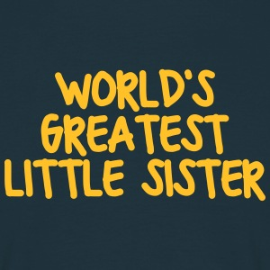 worlds greatest little sister - Men's T-Shirt