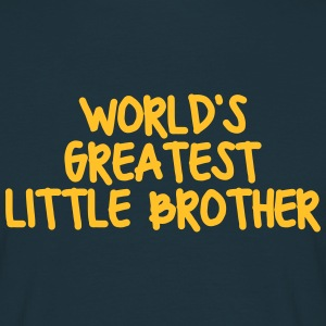 worlds greatest little brother - Men's T-Shirt