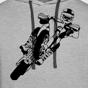 Supermoto Racing Sweat-shirts - Sweat-shirt à capuche Premium pour hommes