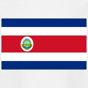 National Flag of Costa Rica Shirts - Teenage T-shirt