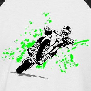 Supermoto Racing T-skjorter - Kortermet baseball skjorte for menn