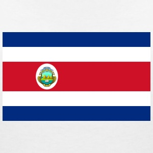 National Flag of Costa Rica T-Shirts - Women's V-Neck T-Shirt