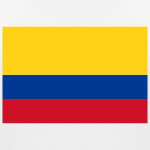 National Flag of Colombia T-skjorter - T-skjorte med V-utsnitt for kvinner