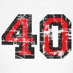 Number 40 Forty 40th Birthday Design (EU) T-Shirts