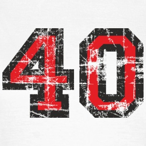 Number 40 Forty 40th Birthday Design (EU) T-Shirts - Women's T-Shirt