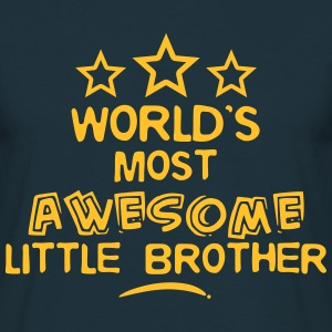 worlds most awesome little brother - Men's T-Shirt