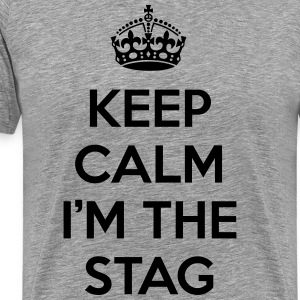 Keep Calm Stag  T-skjorter - Premium T-skjorte for menn