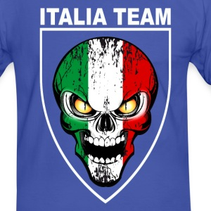 italia skull 03 Tee shirts - T-shirt contraste Homme