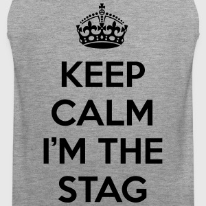 Keep Calm Stag  Tank Tops - Men's Premium Tank Top