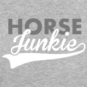 Horse Junkie Text 2C T-Shirts - Frauen Bio-T-Shirt