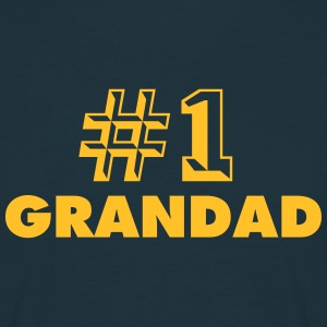 number one grandad - Men's T-Shirt