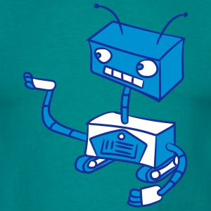 robots keep sweet small show cute T-Shirts - Men's T-Shirt