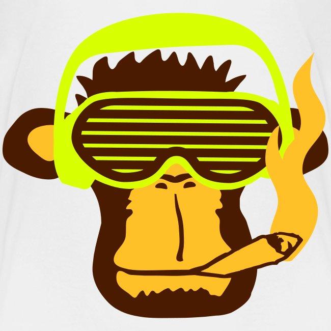 Monkey smoking  for teenagers