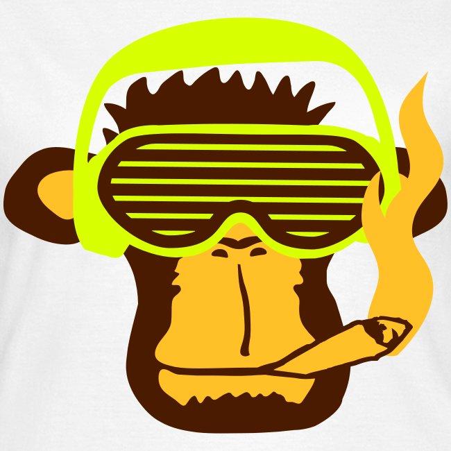 Monkey smoking shirt for a women