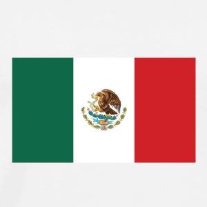 National Flag of Mexico T-shirts - Herre premium T-shirt