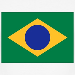 Nationalflagge von Brasilien T-Shirts - Männer Slim Fit T-Shirt