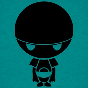 depressed sad robot of big round head unhappy T-Shirts - Men's T-Shirt