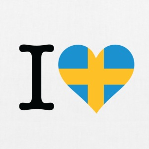 I Love Sweden Bags & Backpacks - EarthPositive Tote Bag