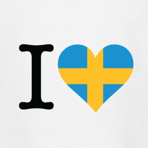 I Love Sweden Skjorter - T-skjorte for barn