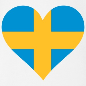 A heart for Sweden Shirts - Organic Short-sleeved Baby Bodysuit