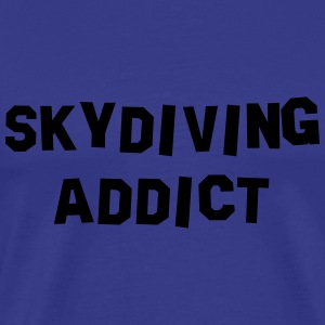 skydiving addict 01 - Men's Premium T-Shirt