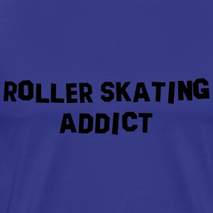 roller skating addict 01 - Men's Premium T-Shirt