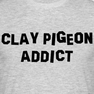 clay pigeon addict 01 - Men's T-Shirt