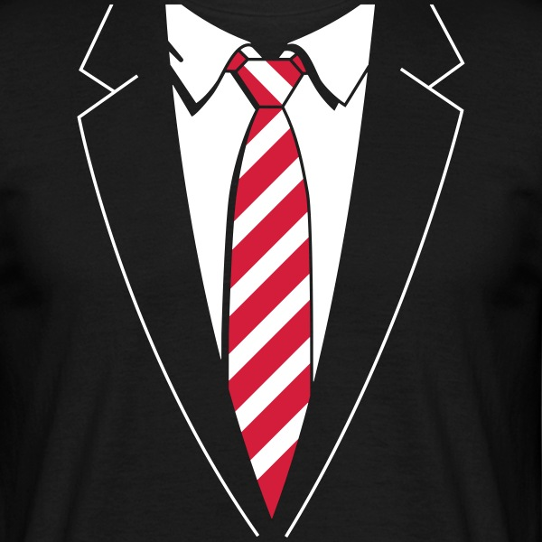 Tuxedo Striped Tie T-Shirts - Men's T-Shirt