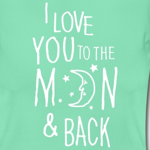 Donker munt I LOVE YOU TO THE MOON & BACK T-shirts - Vrouwen T-shirt