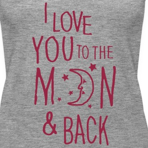 Grå meleret I LOVE YOU TO THE MOON & BACK Toppe - Dame Premium tanktop