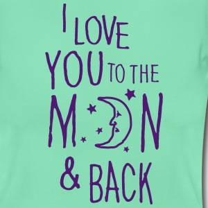 Menta oscura I LOVE YOU TO THE MOON & BACK Camisetas - Camiseta mujer