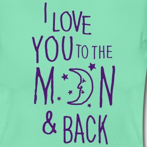 Menthe I LOVE YOU TO THE MOON & BACK Tee shirts - T-shirt Femme