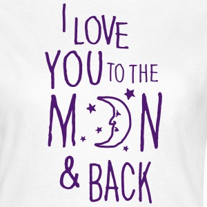 Blanc I LOVE YOU TO THE MOON & BACK Tee shirts - T-shirt Femme