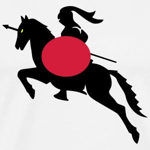 knight shield warrior T-shirts - Herre premium T-shirt